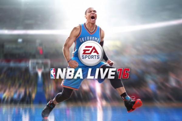 Russell Westbrook dari Oklahoma City Thunder jadi cover NBA Live 16.