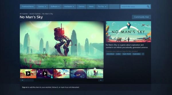 Seakan hendak mengukuhkan komitmen mereka soal rilis versi PC, No Man's Sky akhirnya masuk ke Steam!