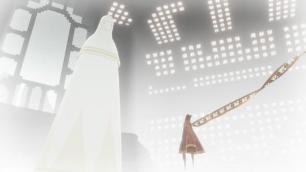 Anda akan dibimbing oleh sosok dengan jubah putih yang mirip dengan Anda.