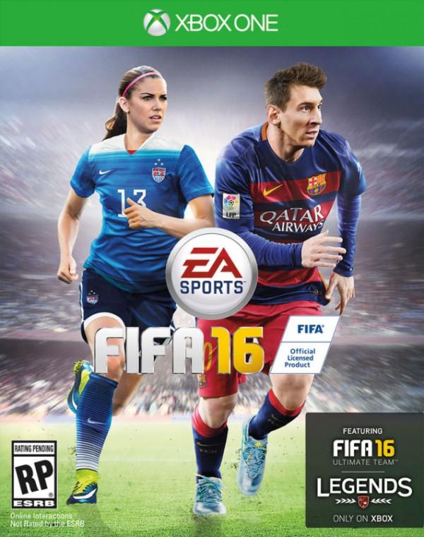 Tiga region rilis - Amerika Serikat, Kanada, dan Australia akan mendapatkan cover utama Lionel Messi bersama dengan seorang pesepakbola wanita.