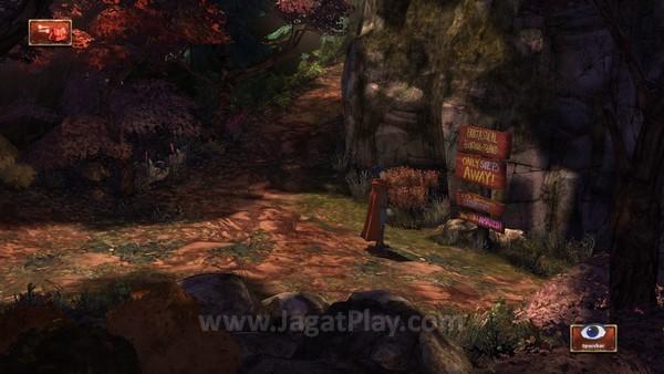 Lingkungan dalam permainan juga turut mendukung nuansa jenaka