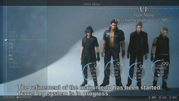 Menu utama Final Fantasy XV yang akhirnya diperlihatkan!