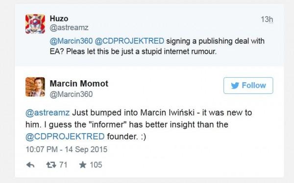 CD Projekt membantah rumor bahwa mereka akan dibeli oleh EA.