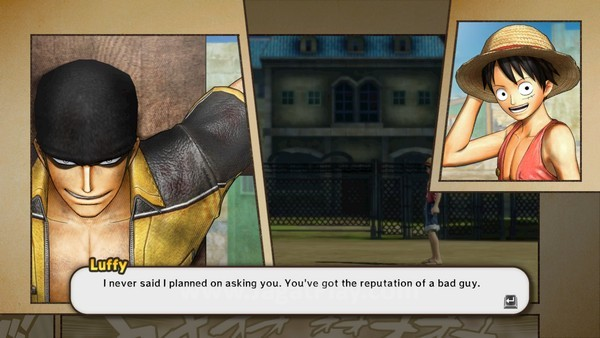 Potongan komik mewarnai narasi di dalam game