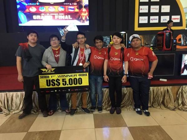 RRQ - salah satu tim DOTA 2 terbaik Indonesia diundang kualifikasi The Majors pertama DOTA 2.