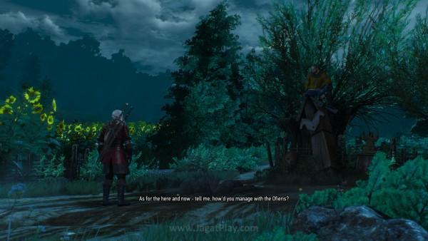 Terjebak dan terancam hukuman mati, Geralt diselamatkan oleh Master Mirror - sosok pria misterius yang tampaknya punya kekuatan luar biasa.