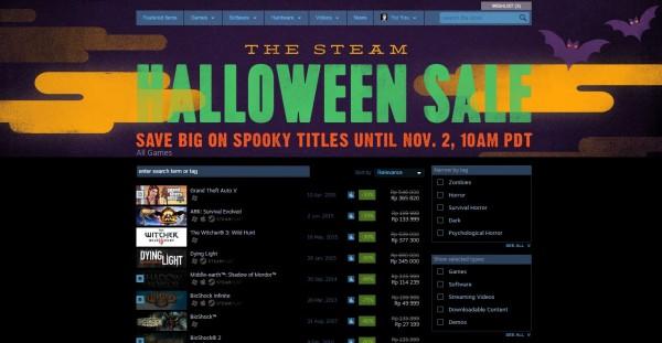 Rayakan Halloween, Steam diskon banyak game-game populer, AAA ataupun indie dengan range persentase yang menggoda.