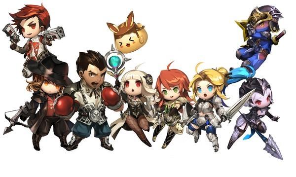 Sembilan karakter dapat dimainkan pada saat game ini dirilis, ditambah dengan dua karakter rahasia