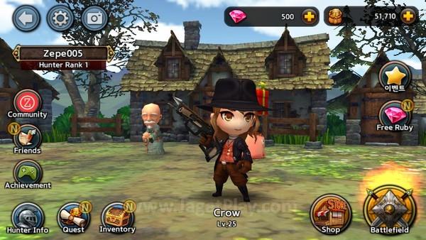 Meskipun tampilan karakternya 3D Super Deform, gamer dapat menggerakkannya dengan leluasa dan lincah