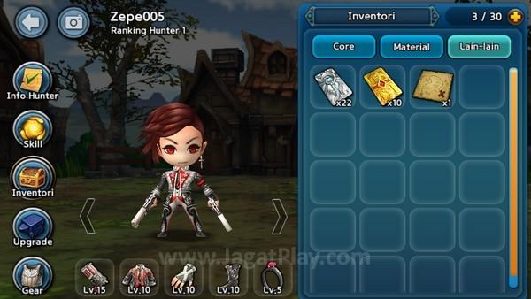 Game ini mengutamakan action dan pengembangan karakter melalui peningkatan Equipment