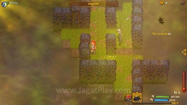 Mode permainan labirin memberikan tantangan yang lebih tinggi dibandingkan mode story