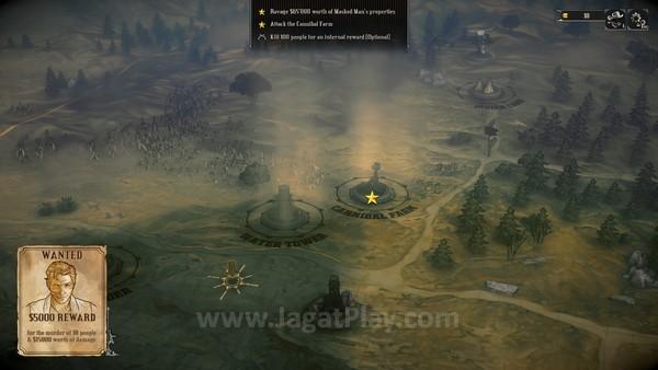 Interface di peta dapat berubah, tergantung skenario yang dimainkan