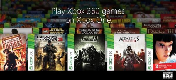 Microsoft mengumumkan kurang lebih 104 game Xbox 360 yang mendukung fitur backward compatibility untuk Xbox One.