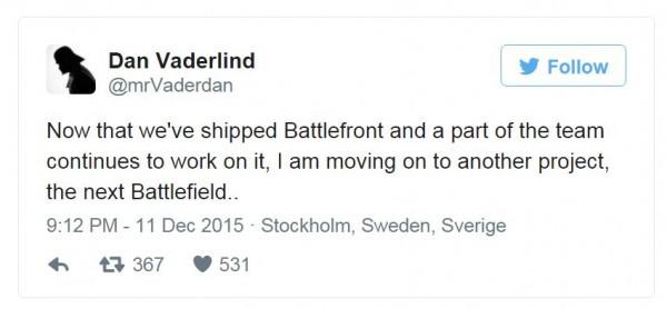DICE dipastikan mulai beralih mengerjakan seri terbaru Battlefield.