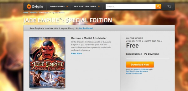 Jade Empire - RPG Lawas Bioware jadi game gratis EA untuk program On The House kali ini.
