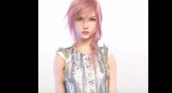 Lightning dari Final Fantasy XIII jadi model terbaru untuk Louis Vitton.