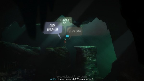 Bersama dengan Jonas yang berlari terlebih dahulu untuk menyelidiki sumber cahaya dan suara dari gua, Anda memulai sebuah perjalanan di kala malam yang tak akan terlupakan.
