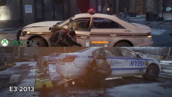 Komparasi yang dilakukan oleh Eurogamer memperlihatkan downgrade visual antara The Division E3 2013 vs Beta.