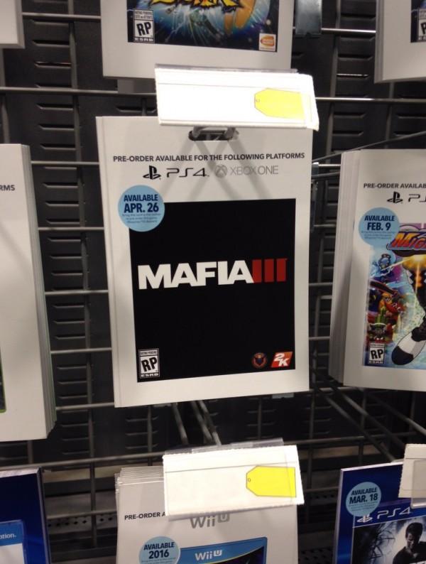 Informasi retail ini memicu rumor bahwa Mafia 3 akan dirilis April 2016 nanti. Sesuatu yang dibantah 2K secara tegas.