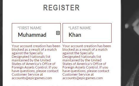 Berusaha mendaftarkan diri di masa beta Paragon, Khan tak bisa melakukannya karena dugaan terkait terorisme.