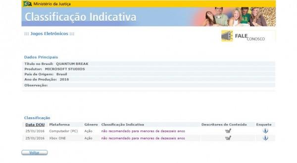 Badan Rating di Brazil juga mendaftarkan Quantum Break untuk versi PC. Remedy dan Microsoft belum angkat bicara soal rilis versi PC yang satu ini.