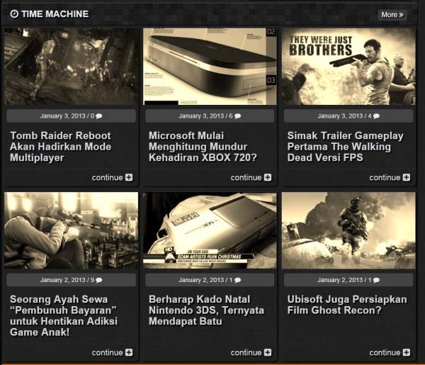 Sesi terbaru - Time Machine, menyusuri kembali jejak industri game di tanggal yang sama, 3 tahun sebelumnya.