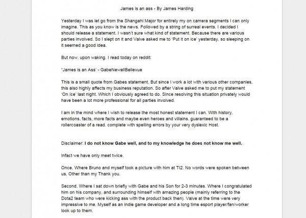 James aka 2GD langsung melemparkan pernyataan terbuka, menjelaskan apa yang terjadi.