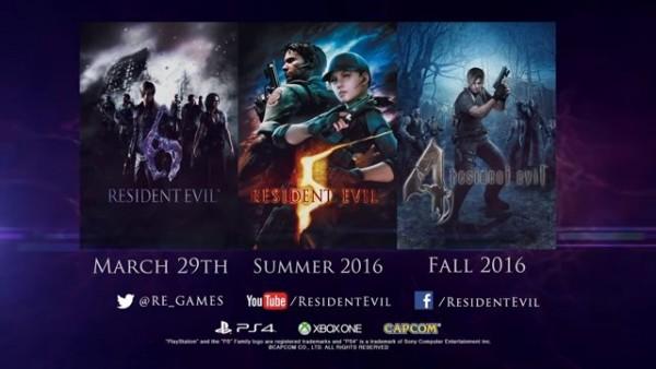 Capcom akan merilis tiga seri Resident Evil untuk Playstation 4 dan Xbox One.