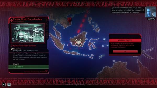Beberapa misi penting perlu dibuka terlebih dahulu negaranya melalui jaringan resistance XCOM