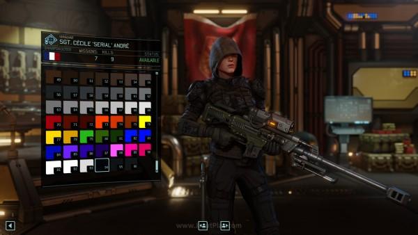 Palet warna menjadi lebih mudah dipilih bila dibandingkan XCOM pertama
