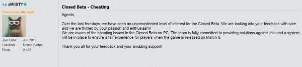 Ubisoft menegaskan akan menyelesaikan masalah cheating The Division versi PC di rilis final nanti.