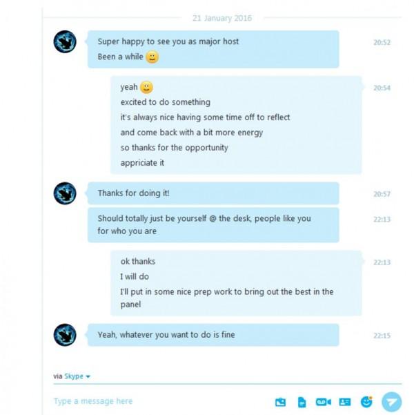 Percakapan personal 2GD dengan IceFrog - dewa DOTA 2 yang memintanya untuk jadi dirinya sendiri di Shanghai Major.