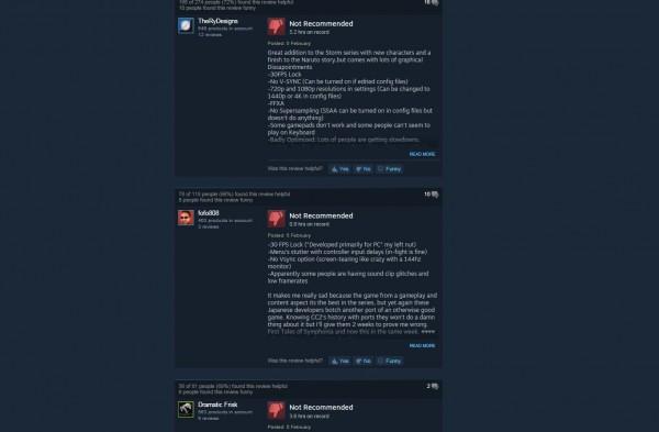 Review negatif membanjiri store Naruto Shippuden: Ultimate Ninja Storm 4, semuanya mengeluhkan masalah teknis yang menguatkan indikasi proses port yang buruk.