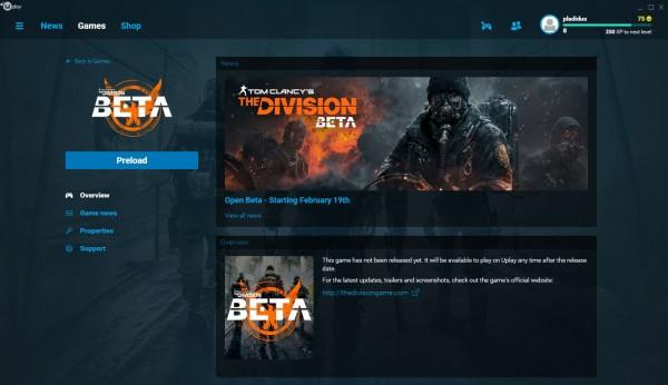 Pre-load untuk masa open beta The Division sudah tersedia! Ingat, tanpa undangan!