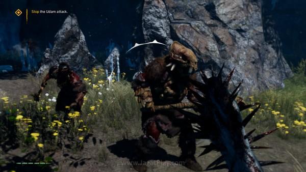 Untuk pertarungan non-stealth, gada dan tombak yang juga bisa dilempar jika Anda inginkan, akan jadi andalan untuk pertarungan melee.