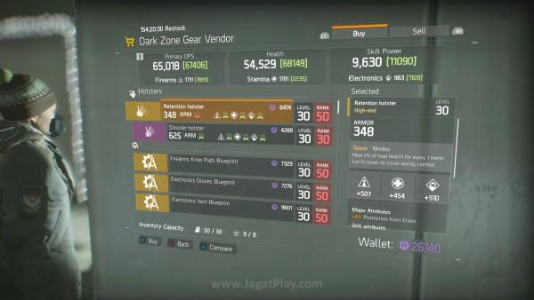 Dengan requirements tertentu yang dibutuhkan untuk mengaktifkan Talent senjata, ada bungkusan elemen RPG lain di sistem senjata / equipment The Division.