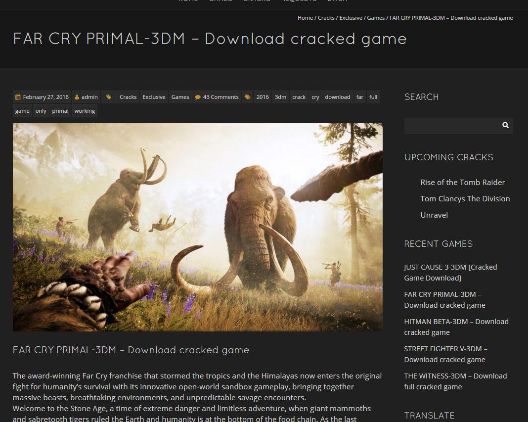Hati Hati Dengan Far Cry Primal Pc Bajakan Jagat Play