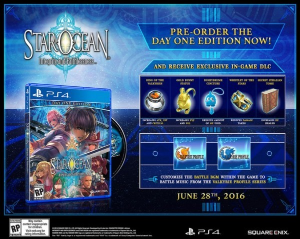 Star Ocean: Integrity and Faithlessness akan tiba di pasar Barat tanggal 28 Juni 2016 mendatang!