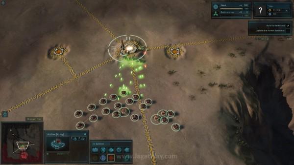 Titik resource dijaga oleh unit netral yang perlu dikalahkan terlebih dahulu sebelum diambil