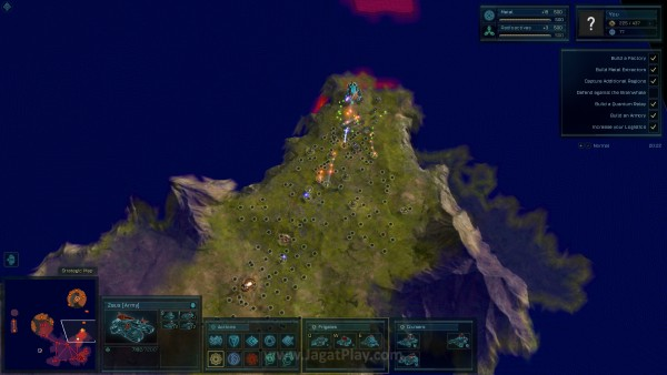 Zoom di dalam game ini memungkinkan untuk melihat perang berskala besar