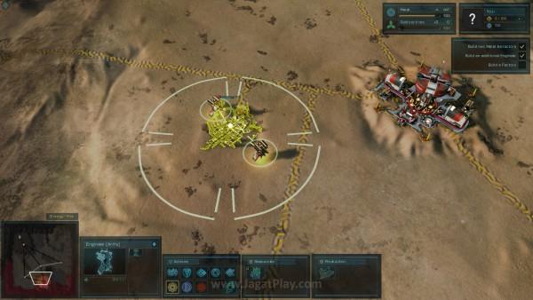Basis gameplay ada pada pembangunan markas dan membangun unit yang sangat banyak