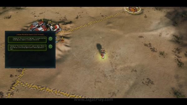 Tutorial mengajarkan dasar membangun untuk mempersiapkan diri bermain multiplayer dan skirmish