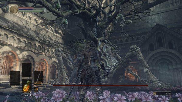 Mana yang lebih buruk? Pohon raksasa yang hidup? Atau fakta bahwa Anda harus mendekat dan bertarung di area selangkangannya?