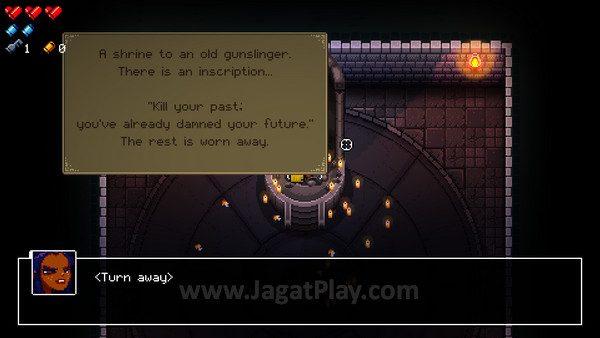 Beragam benda dalam game memberikan deskripsi yang memperdalam lore