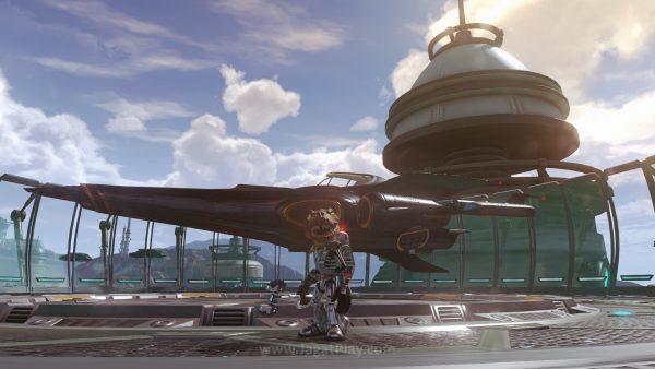 T-Rex dengan baju luar angkasa futuristik, bersenjatakan machine gun dan punya pesawat luar angkasa super modern? WHY NOT!