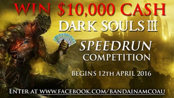 Bandai Namco Australia menyelenggarakan kompetisi Speed Run Dark Souls 3.