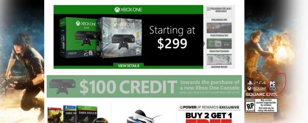 Rumor versi PC menguat setelah iklan di situs retailer raksasa - GameStop menuliskan PC sebagai salah satu platform rilis FF XV.