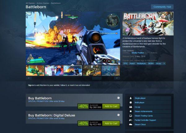 Baru dirilis awal bulan ini, Battleborn sudah mendapatkan potongan harga hingga 40%.