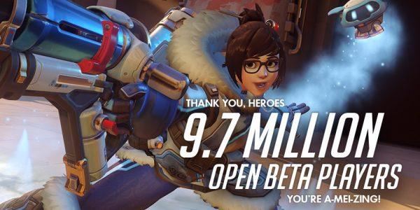 9,7 juta user dalam 5 hari masa open beta, Overwatch jadi beta tersukses Blizzard sejauh ini.