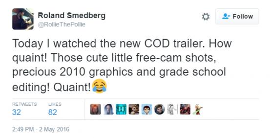 DICE - dev. seri Battlefield dari EA menertawakan visual COD: Infinite Warfare yang mereka sebut mirip game tahun 2010.